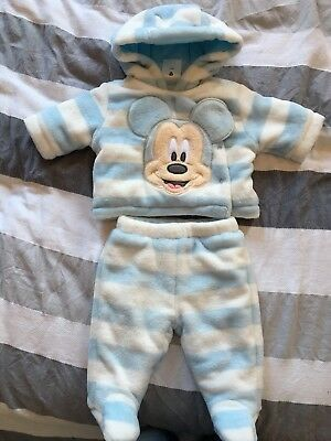 Disney Store Mickey Mouse Winter Snowsuit 0-3 months