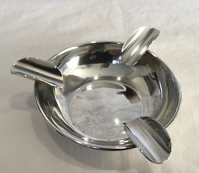 Vintage Elegant Art Deco Sterling Silver Ash Tray, Sheffield 1925, with Reg Mark