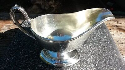 BSCEP N.S. Vintage Silver Plate Gravy/Suace Boat With Pedestal Base