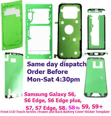 Samsung Galaxy S6 s6 Edge plus S7 Edge S8 Front + Back Adhesive Sticker Tape OEM