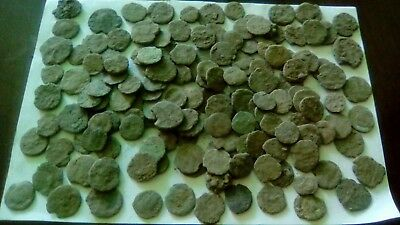 Lot Of 150 Ancient Bronze Roman Coins Bad Quality Uncleaned