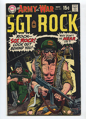1969 Dc Our Army At War #212 Sgt. Rock Very Fine+ High Grade Unpressed C4