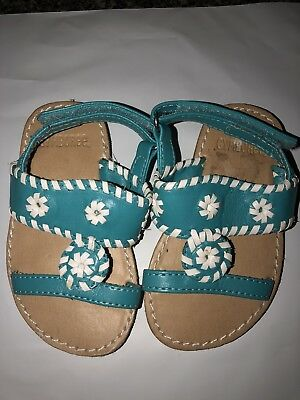 Gymboree turquoise Jack Rogers style Sandals Toddler 4