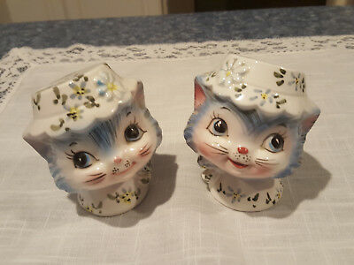 Lefton Miss Priss Salt & Peppers with stickers