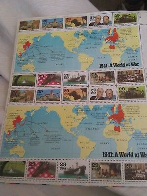 US Sc# 2559 1941:A WORLD AT WAR MINT  FULL STAMP SHEET of 20 NEVER HINGED MNH