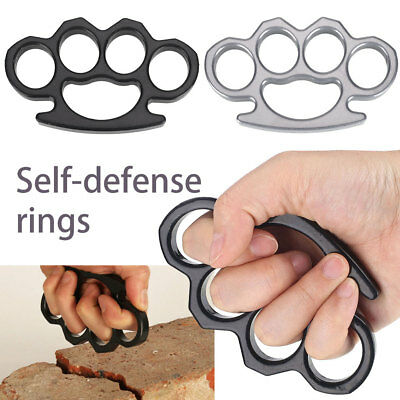Alloy Knuckles Buckle Exercise Brass Knuckles Dazzling Self Defense Ring