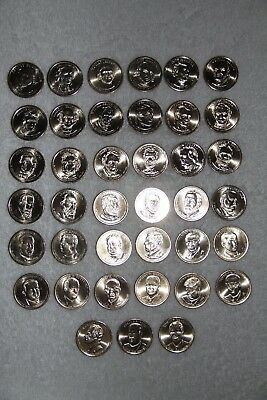 Complete Presidential Dollar Set 39 Coins From The Denver Mint in Tubes
