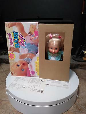 Galoob Baby Face Vinyl Doll So Excite Becca 1991 Bathtub Series nrfb nos