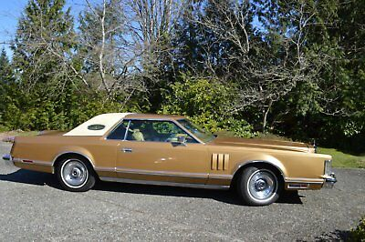 1977 Lincoln Mark Series Gold &Cream Luxury Decor group Lincoln Continental Mark V
