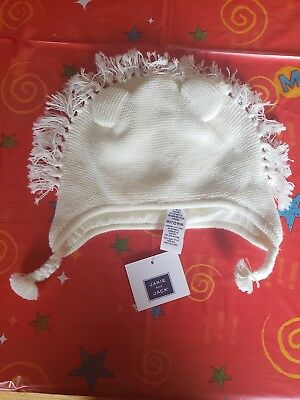 Jack and Janie 3-6 month ivory lion sweater beanie MSRP $24 NEW w/ tags