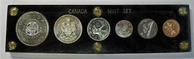 1964 Canadian Mint Set * In Capital Holder * Some Toning On Coins * No Reserve