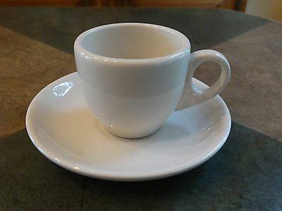 Homer Laughlin Restaurant China Demitasse Espresso Size Cup and Saucer