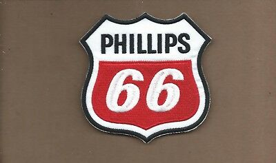 New 4 Inch Phillips 66 Shield Iron On Patch Free Shipping X1