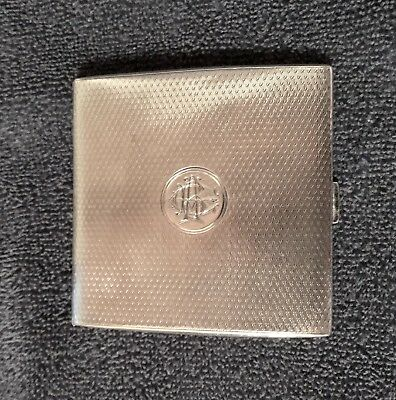 WILLIAM NEAL STERLING SILVER CIGARETTE CASE,CREST,GIFT DATE DEC. 25th 1925,