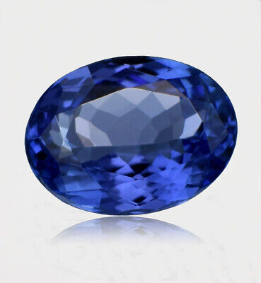 2.67Cts Top Quality Oval Cut AAAA Color 100% Natural Tanzanite High-End D'Block