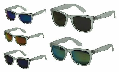 677988b43fa HIPSTER FASHION FLASH Color Mirror Lens Horn Rimmed Style Sunglasses ...