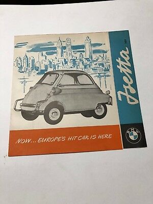 Original Dealer Sales Brochure Isetta BMW 300 Microcar US Market