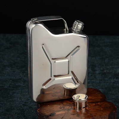 5oz Stainless Steel Hip Flask Liquor Whisky Alcohol Pocket Bottle Fuel Gas Can