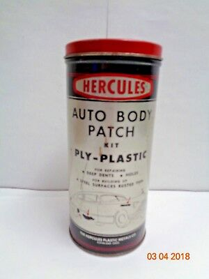 MECHANIC Hercules Auto Body Patch Kit Vintage Tin COLLECTOR 1950s