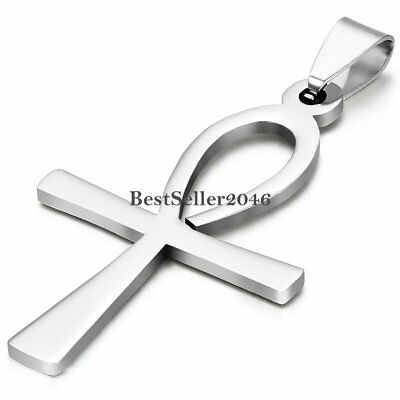 Stainless Steel Egyptian Ankh Cross Of Life Egypt Symbol Pendant Necklace Chain