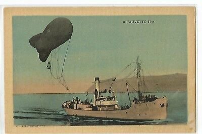 "Postcard Aviation , Ballon Dirigeable , Ballon Captif "" Fauvette Ii """