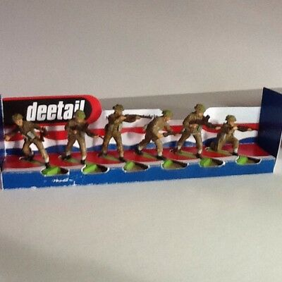 Britains Deetail Ww2 British Infantry Six Figures In Various Poses
