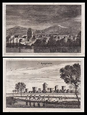 1670 China city Stadt mountains Ansicht view Kupferstich antique print Nieuhof