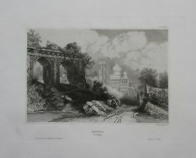 1840 - Monea Indien India engraving Stahlstich