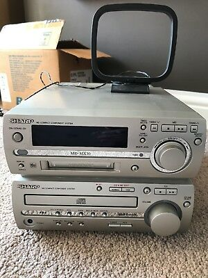 Sharp MD-MX30 Hi-Fi System with FM Radio, CD and MiniDisc Compact Component