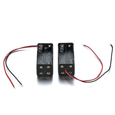 2 Pcs 4 x AAA  Battery Holder Case Holder Box Dual Layers With Wire Lead