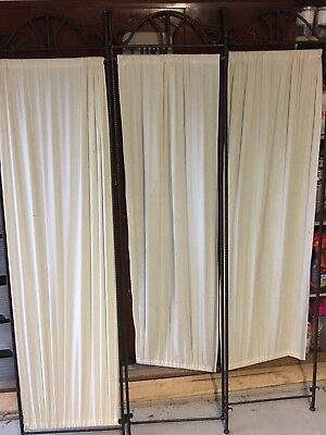 Antique Style Black Wrought Iron Change Screen In Three Sections