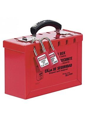 Caledonia Signs 53332 Portable Group Lockout Box, Red
