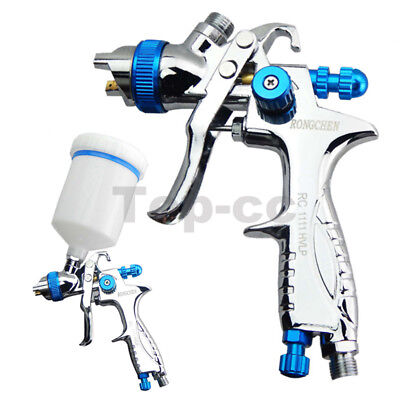 Gravity Feed HVLP Spray Gun Auto Car Paint  1.3mm Nozzle+600ml Pot Repair Kit