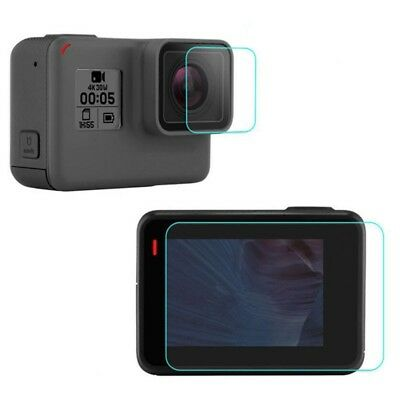Tempered Glass Screen Protector For GoPro Hero 6 Camera Lens and LCD Screen