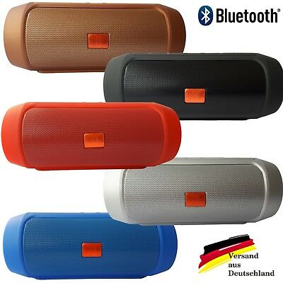 Musikbox Lautsprecher Soundbox Portable Soundstation Bluetooth USB rot blau grau