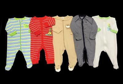 BABY BOY 0-3 months 3 months COTTON Spring Summer SLEEPER PAJAMAS Clothes Lot