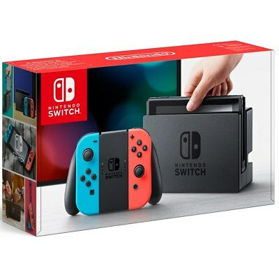 Nintendo Switch 32GB Grey Console (with Neon Red/Neon Blue Joy-Controller)