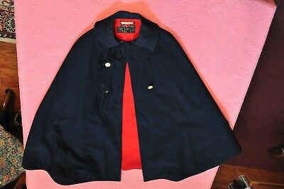 Vintage 1940's Wwii Women's Nurse's Cape (Navy Blue) Named