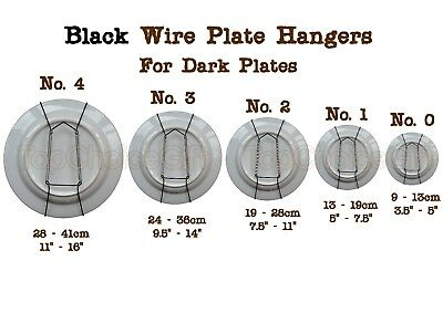 Black Wall Display Plate Dish Wire Spring Hanger Holder Hangers Mount  0 1 2 3 4