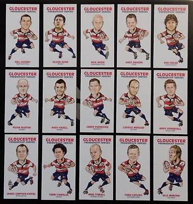 Gloucester Premiership Heroes (Ser1) by M and C Cards Limited edition cards