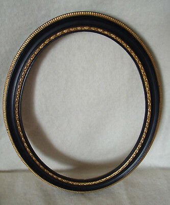 Vintage Antique Oval Hogarth Picture Frame With Backboard and Glass (H91)