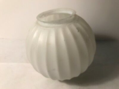 antique frosted glass round swag lamp ceiling light fixture globe 4 inch fitter