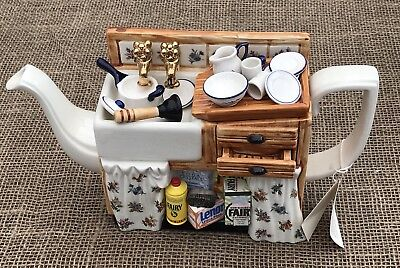 Paul Cardew Limited Edition 5000 Large Novelty Collectors Teapot Kitchen Sink