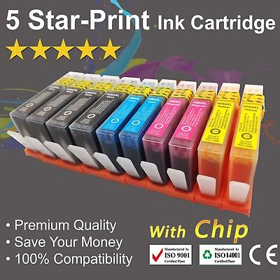 10 Ink Cartridges for HP 564XL Photosmart 3070/5510/5520/6510/6520/7510/7520