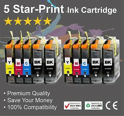 10 Ink Cartridges for Brother LC233 DCP-J562DW MFC-J480DW MFC-J680DW MFC-J880DW