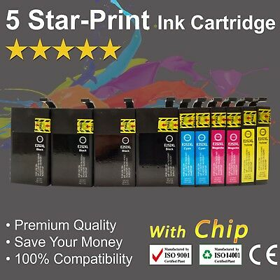 10 Ink Cartridges for Epson 252 252XL 254XL WorkForce WF 3620 WF 3640 WF 7620