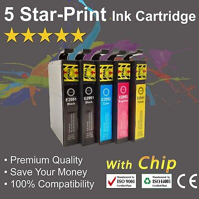 5 Ink Cartridges for Epson 29XL Expression Home XP235 XP332 XP335 XP432 XP435
