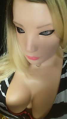 Realistic Female Girl Latex Sexy Mask Disguise Halloween Costume Movie Denise