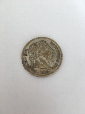 1818 George III Milled Silver Sixpence, Scarce