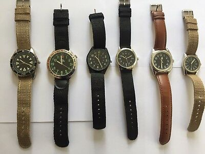Eaglemoss Military Watch Collection - Lot 4 - 6 x Watches in Excellent Condition